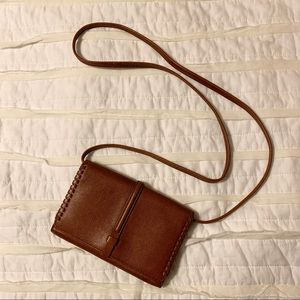 NWOT crossbody fossil wallet brown leather